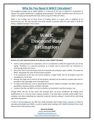 Why Do You Need A WACC Calculator?