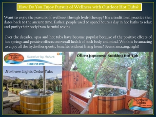 Benefits of Installing Outdoor Hot Tubs - Northern Lights Cedar Tubs