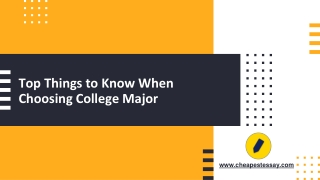 Top Things to Know When Choosing College Major
