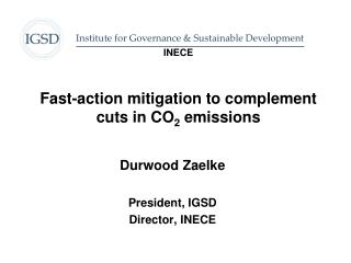 INECE   Fast-action mitigation to complement  cuts in CO2 emissions
