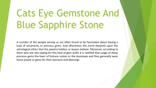 Blue SapphireStone