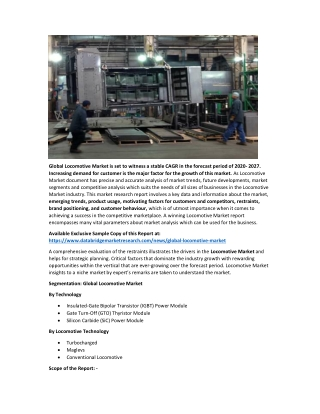Locomotive Market