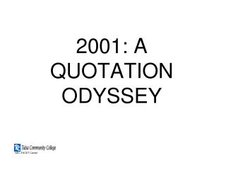 2001: A QUOTATION ODYSSEY
