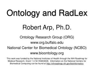 Ontology and  RadLex