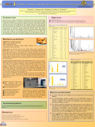 Determination of vegetable oil volatile compounds during frying by dynamic headspace/GCMS analysis