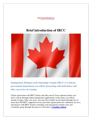 Brief introduction of IRCC