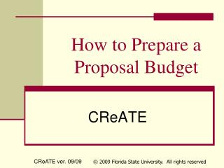 How to Prepare a Proposal Budget