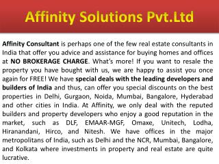 Rustomjee  Luxury Projects Thane AffinityConsultant.Com