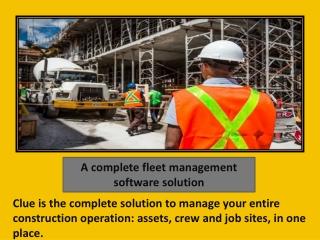 A complete fleet management software solution