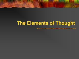 The Elements of Thought