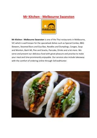 5% Off - Mr Kitchen Menu Thai Restaurant Melbourne, VIC