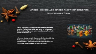 Indian spices and their uses - Maharashtra Today