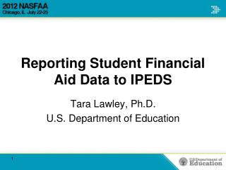Reporting Student Financial Aid Data to IPEDS