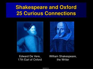 Shakespeare and Oxford: 25 Curious Connections