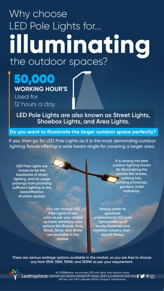 Why choose LED Pole Lights for..