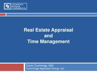 Real Estate Appraisal and Time Management
