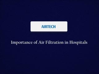Hospital Air Filters Manufacturer