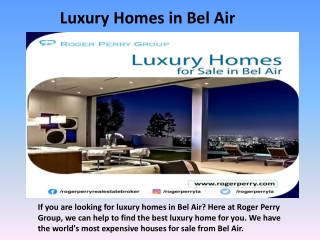 Luxury Homes in Bel Air