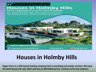 Houses in Holmby Hills