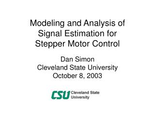 Modeling and Analysis of Signal Estimation for Stepper Motor Control
