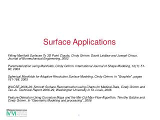 Surface Applications
