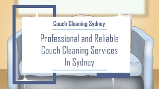 Professional and Reliable Couch Cleaning Services In Sydney | Expert Sofa Cleaners