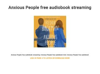 Anxious People free audiobook streaming