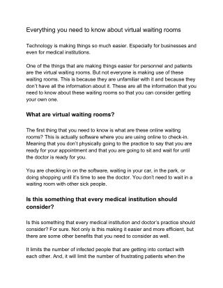 Everything you need to know about virtual waiting rooms