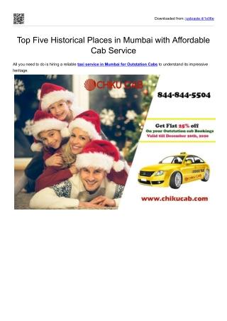 Hire Luxury Car Rental Taxi Service in Mumbai-Chiku Cab Service