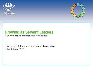 Growing as Servant Leaders A Source of Life and Renewal for L Arche