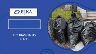Extra Large Black Garbage Bags