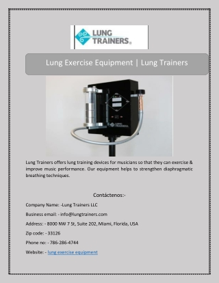Lung Exercise Equipment   Lung Trainers
