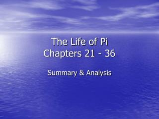 life of pi chapter notes