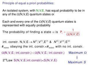 Principle of equal a priori probability