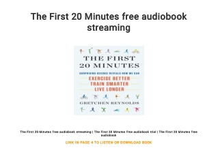 The First 20 Minutes free audiobook streaming
