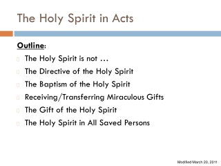 The Holy Spirit in Acts
