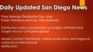 Daily updated New San Diego News