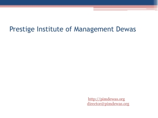 Prestige Institute of Management Dewas