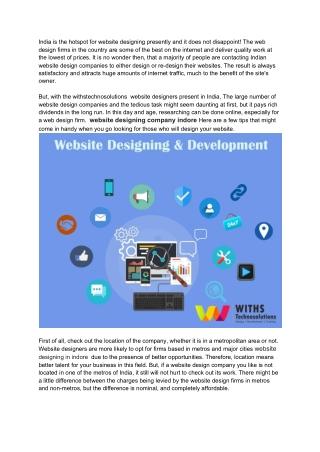 website design company indore