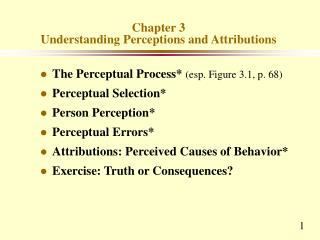 Chapter 3 Understanding Perceptions and Attributions