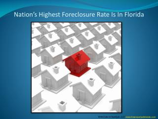Nation???s highest foreclosure rate is in Florida
