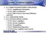 Chapter 11 Optical Amplifiers