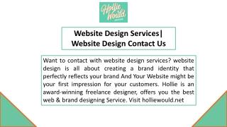 Website Design Services  Website Design Contact Us