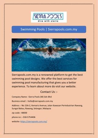 Swimming Pools | Sierrapools.com.my
