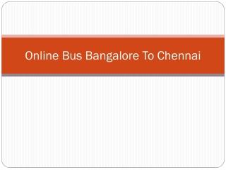 Bangalore to Coimbatore Bus