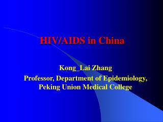 HIV/AIDS in China