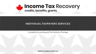 Individual Taxpayers Services