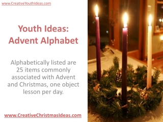 Youth Ideas: Advent Alphabet