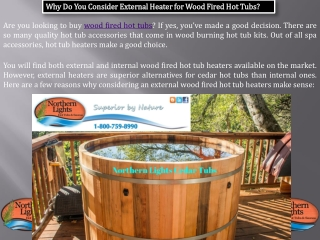 Buy Wood Fired Hot Tubs - Northern Lights Cedar Tubs