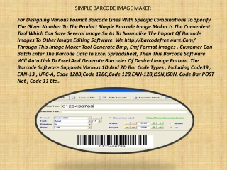 SIMPLE BARCODE IMAGE MAKER